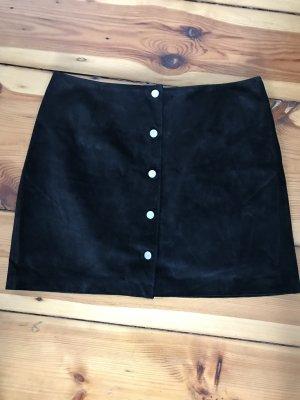 New Look Jupe en cuir noir cuir