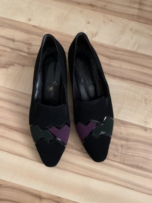Veloursleder-Schuhe, made in Austria, Gr. 6,5