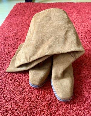 Veloursleder-Stiefel