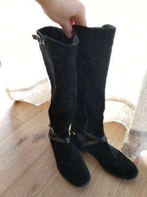 Davos Gomma Botas slouch negro