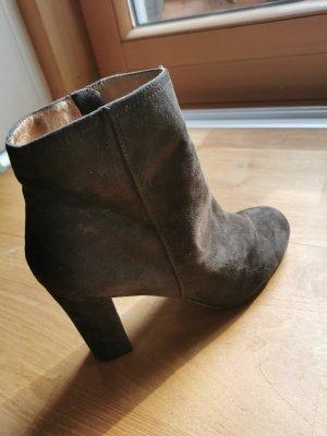 5th Avenue Zipper Booties dark grey-dark brown