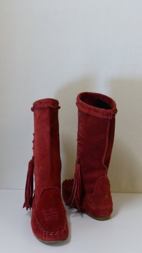 Vero Cuoio Bottines à enfiler rouge brique daim