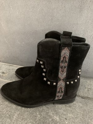 ASH Wedge Booties black leather