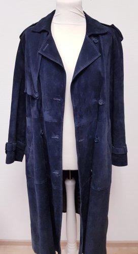 Leather Coat dark blue