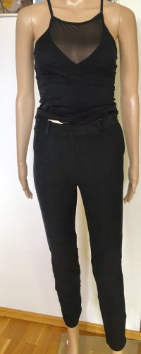 H&M Lage taille broek zwart