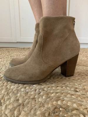 5th Avenue Zipper Booties beige-dark brown