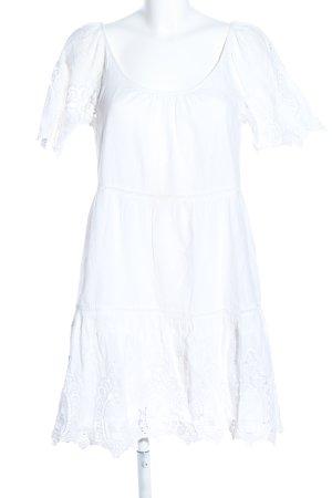 Velvet Babydollkleid weiß Elegant