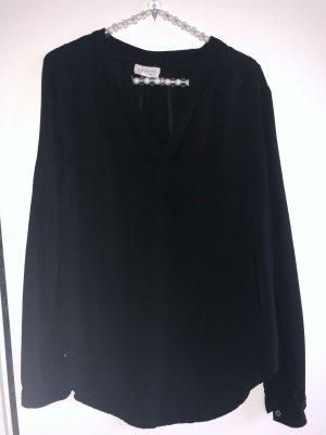 Velvet Blusenshirt in schwarz