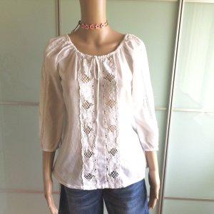 Velvet by Graham & Spencer Koszula typu carmen biały Bawełna