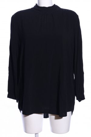 Velvet by Graham & Spencer Langarm-Bluse schwarz Casual-Look