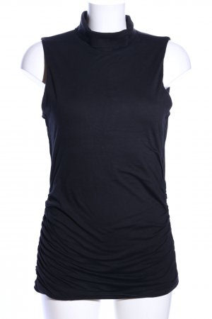 Velvet by Graham & Spencer Top con colletto arrotolato nero stile casual