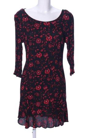 Velvet by Graham & Spencer Flounce Dress black-red flower pattern casual look