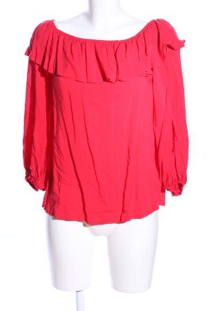 Velvet Carmen-Bluse pink Casual-Look