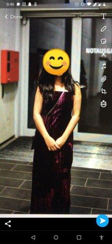 and A Line Dress purple