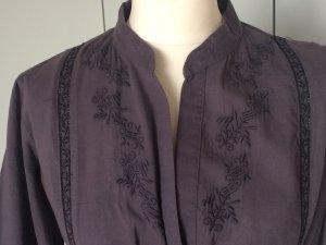 Velvet Tunic Dress dark blue cotton