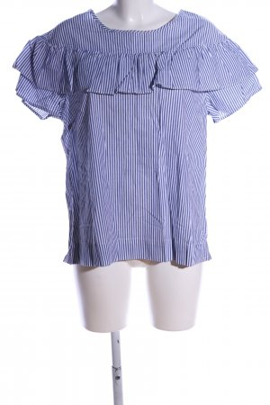 Velvet Heart Oversized Bluse weiß-blau Streifenmuster Casual-Look