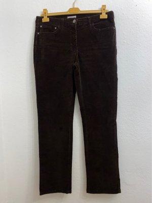 Marco Pecci Pantalone di velluto a coste marrone scuro Cotone