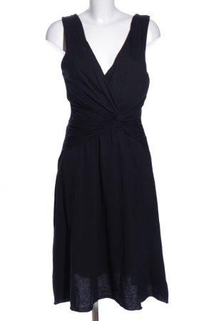 Velvet Jerseykleid schwarz Casual-Look