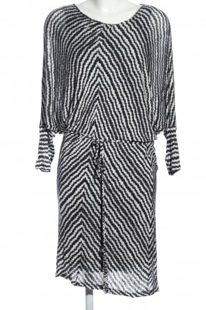 Velvet Jerseykleid schwarz-weiß Allover-Druck Business-Look