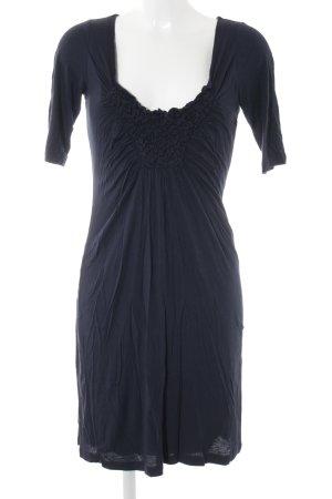 Velvet Jerseykleid dunkelblau Casual-Look