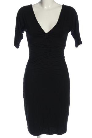 Velvet Jerseykleid schwarz - feminin