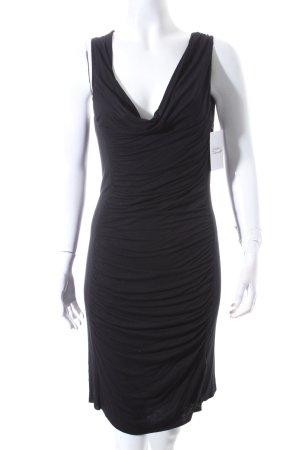 Velvet Jerseykleid schwarz Party-Look