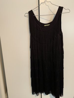 Velvet Kleid mit Fransen
