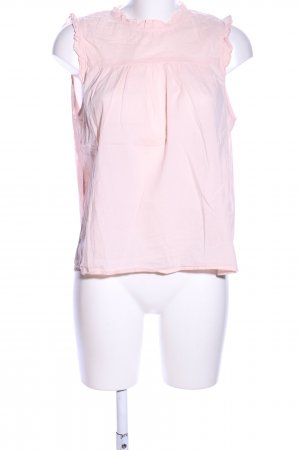 Velvet Kurzarm-Bluse pink Business-Look
