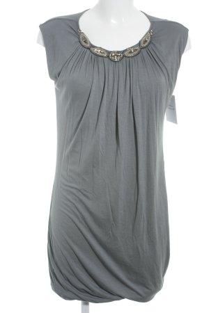 Velvet Kurzarmkleid graublau Street-Fashion-Look