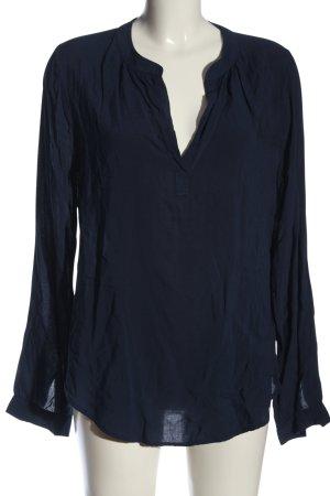Velvet Langarm-Bluse blau Casual-Look