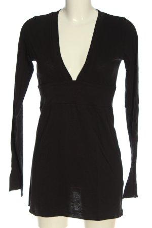 Velvet Camisa larga negro look casual