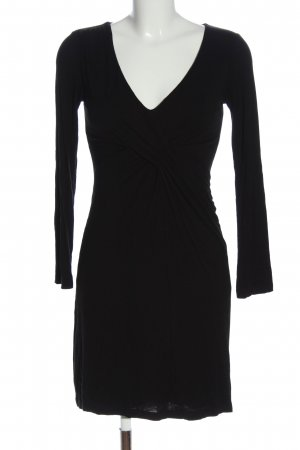 Velvet Vestido de manga larga negro look casual