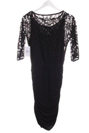Velvet Langarmkleid schwarz Elegant