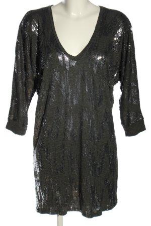 Velvet Longshirt schwarz Elegant