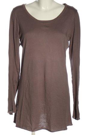 Velvet Longshirt braun Casual-Look