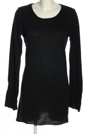 Velvet Longshirt schwarz Casual-Look