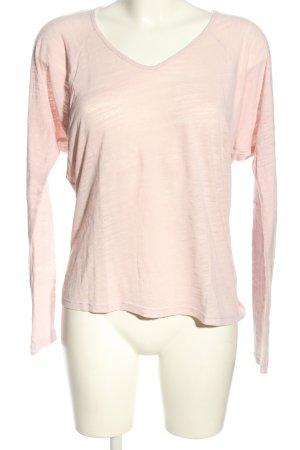 Velvet Longsleeve pink Casual-Look