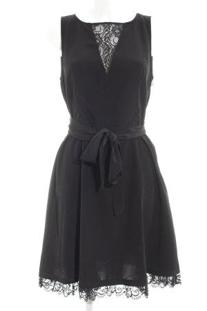 Velvet Vestido a media pierna negro elegante