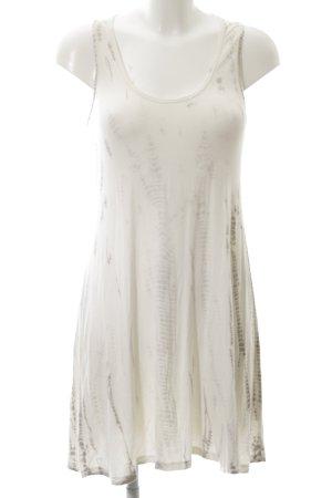 Velvet Minikleid creme-braun abstraktes Muster Casual-Look