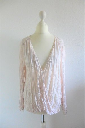 Velvet Oberteil Shirt Bluse Langarm rose rosa scandi Gr. M 38