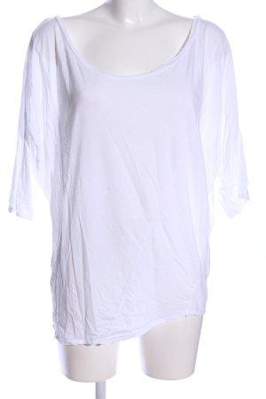 Velvet Oversized Shirt weiß Casual-Look