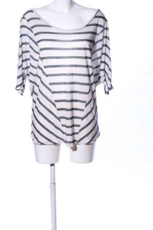 Velvet Top extra-large blanc-noir imprimé allover style décontracté