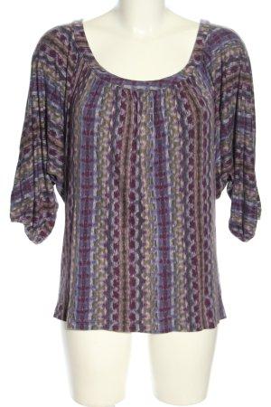 Velvet Oversized Shirt Allover-Druck Casual-Look