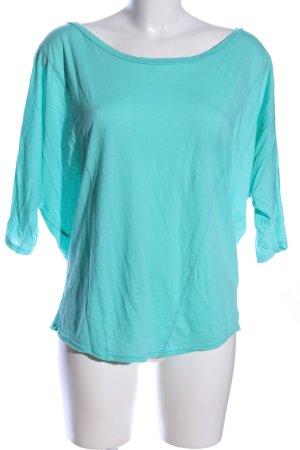 Velvet Top extra-large turquoise style décontracté