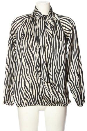 Velvet & Rose Bluzka z kokardą biały-czarny Na całej powierzchni