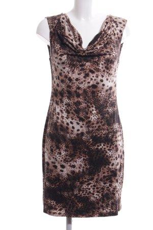 Velvet Vestido de tubo marrón estampado repetido sobre toda la superficie