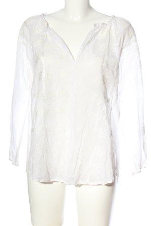 Velvet Schlupf-Bluse weiß Elegant