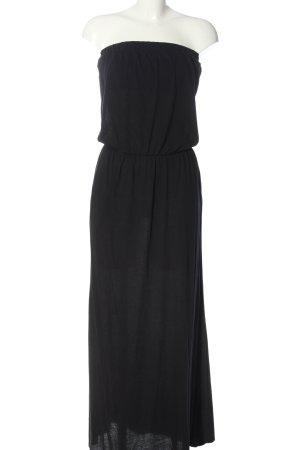 Velvet Robe épaules nues noir style festif