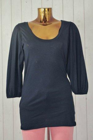 VELVET Shirt Oberteil Rundhals Dreiviertel Arm Schwarz Basic Basic Baumwolle M
