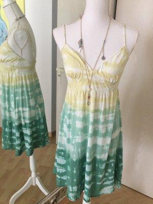 Velvet ❤️ Sommer Kleid Gr 36 Baumwolle Gelb Grün